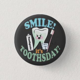 Badge Rond 2,50 Cm Hygiéniste dentaire drôle de dentiste