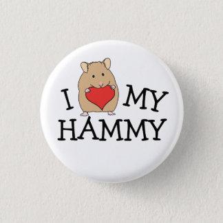 Badge Rond 2,50 Cm I coeur mon bouton Hammy de Syrien de sable