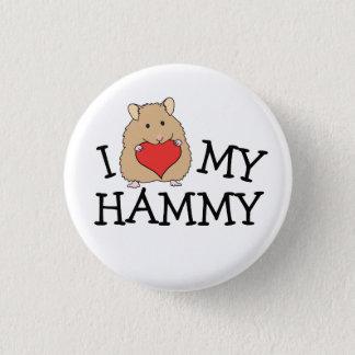 Badge Rond 2,50 Cm I coeur mon long bouton Hammy de Syrien de cheveux