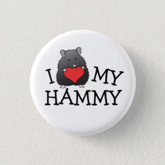 Badge Rond 2,50 Cm I coeur mon long bouton noir Hammy de Syrien de