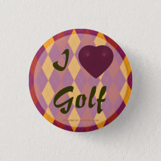 Badge Rond 2,50 Cm I Jacquard tropical de golf de coeur
