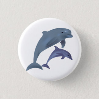 Badge Rond 2,50 Cm Illustration sautante de dauphins
