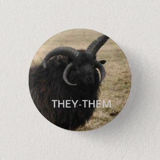 """Badge Rond 2,50 Cm """"-ils"""" avec la chèvre sérieuse"""