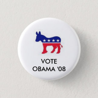 Badge Rond 2,50 Cm images, VOTE                    OBAMA '08