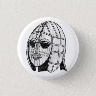 Badge Rond 2,50 Cm Insigne archéologique de casque de Sutton Hoo de