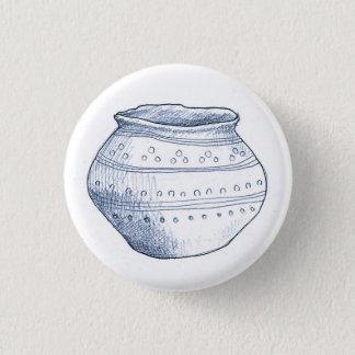 Badge Rond 2,50 Cm Insigne archéologique d'urne de fragments