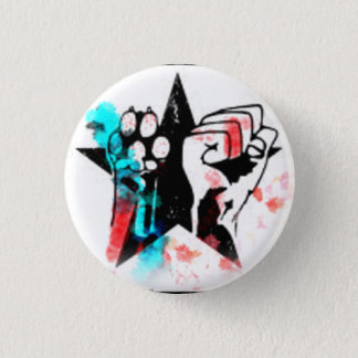 Badge Rond 2,50 Cm Insigne coloré de droits des animaux