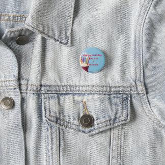 Badge Rond 2,50 Cm insigne d'anniversaire de 1 années