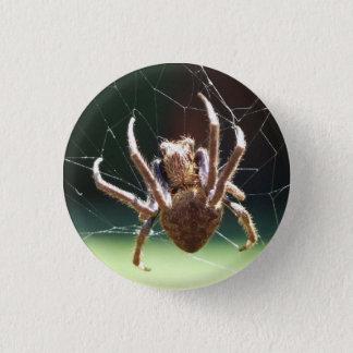 Badge Rond 2,50 Cm Insigne d'araignée de tisserand de globe de jardin