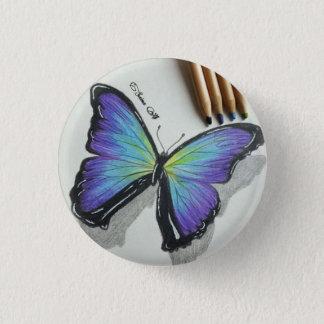 Badge Rond 2,50 Cm Insigne de papillon