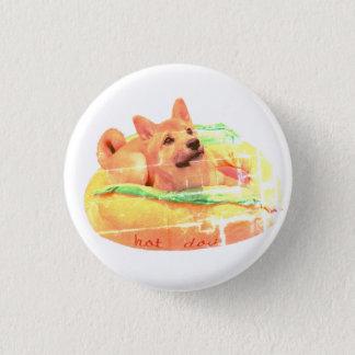 Badge Rond 2,50 Cm Insigne de Shiba de hot-dog