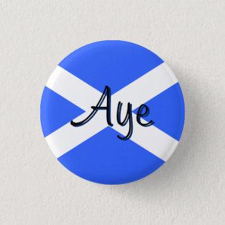 Badge Rond 2,50 Cm Insigne écossais de drapeau de Saltire de