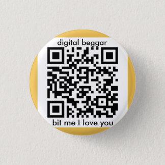 Badge Rond 2,50 Cm insigne punk de bitcoin de cyber