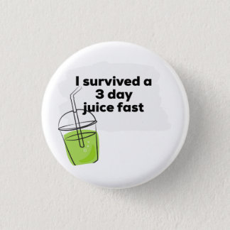 Badge Rond 2,50 Cm J'ai survécu à un végétalien en bonne santé drôle