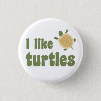 Badge Rond 2,50 Cm J'aime des tortues