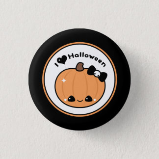 Badge Rond 2,50 Cm J'aime Halloween