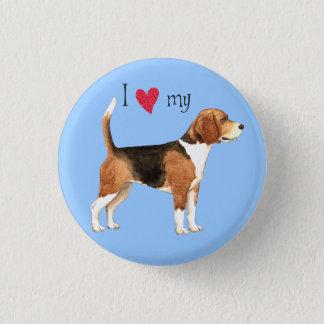 Badge Rond 2,50 Cm J'aime mon beagle