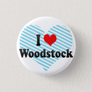 Badge Rond 2,50 Cm J'aime Woodstock, Canada