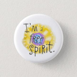 Badge Rond 2,50 Cm Je suis un esprit libre