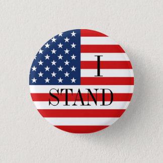 """Badge Rond 2,50 Cm """"JE TIENS"""" le drapeau américain patriotique"""