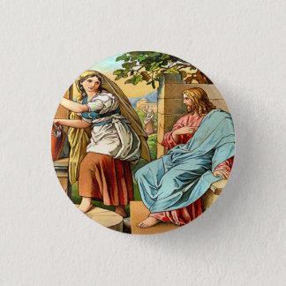 Badge Rond 2,50 Cm Jésus et femmes au bouton bon