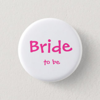 Badge Rond 2,50 Cm Jeune mariée à être bouton