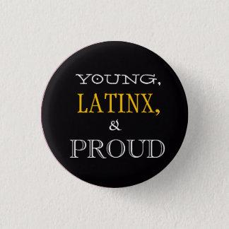 Badge Rond 2,50 Cm Jeunes, Latinx, et Pin fier