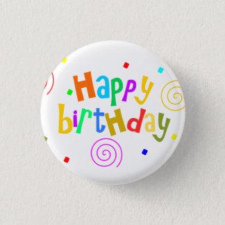 Badge Rond 2,50 Cm joyeux anniversaire