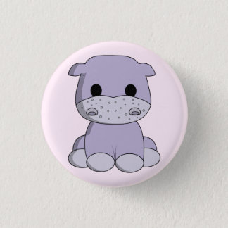 Badge Rond 2,50 Cm La bande dessinée mignonne d'hippopotame de bébé
