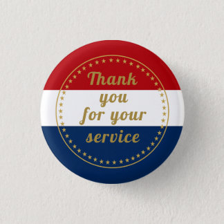 Badge Rond 2,50 Cm La police militaire de service actif de vétéran