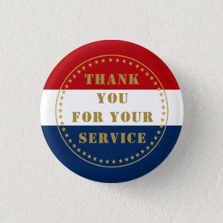 Badge Rond 2,50 Cm La police militaire de vétéran de service actif