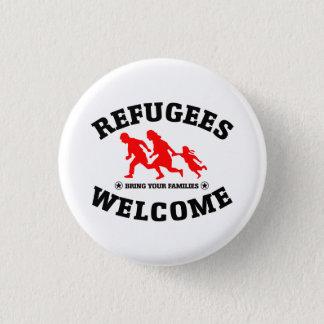 Badge Rond 2,50 Cm L'accueil de réfugiés amènent vos familles