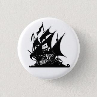 Badge Rond 2,50 Cm Le bateau de logo de baie de pirate
