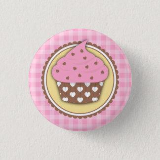 Badge Rond 2,50 Cm Le bouton de petit gâteau avec le coeur d'amour