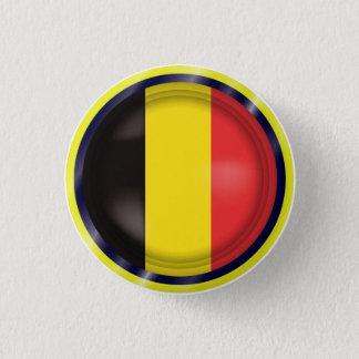 Badge Rond 2,50 Cm Le drapeau abstrait de la Belgique, Belge colore