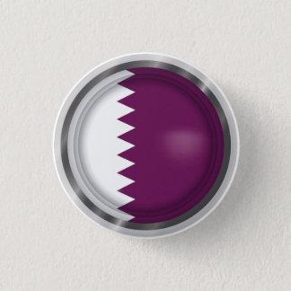 Badge Rond 2,50 Cm Le drapeau abstrait du Qatar, Qatari colore le