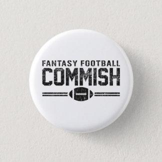 Badge Rond 2,50 Cm Le football Commish d'imaginaire