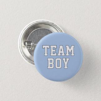 Badge Rond 2,50 Cm Le genre de bébé du garçon   d'équipe indiquent