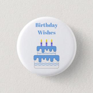 Badge Rond 2,50 Cm Le joyeux anniversaire souhaite l'insigne