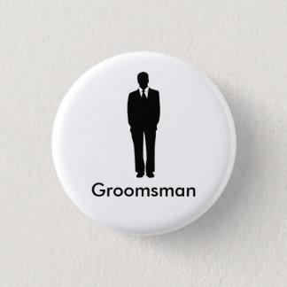 Badge Rond 2,50 Cm Le meilleur homme ou le Groomsman