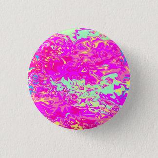Badge Rond 2,50 Cm Le regard Marbleized dentelle des verts jaune et