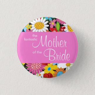 Badge Rond 2,50 Cm Le ressort fleurit la mère de mariage de