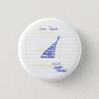 Badge Rond 2,50 Cm le tepee solitaire