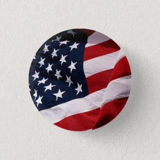 Badge Rond 2,50 Cm Les Etats-Unis marquent l'ondulation