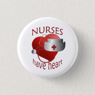 Badge Rond 2,50 Cm Les infirmières ont le bouton rond d'infirmière de