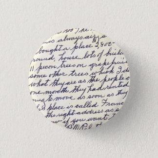 Badge Rond 2,50 Cm Lettre élégante manuscrite avec amour