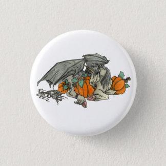 Badge Rond 2,50 Cm Licorne à ailes par batte protégeant une