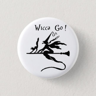 Badge Rond 2,50 Cm L'insigne rond Wicca disparaissent !