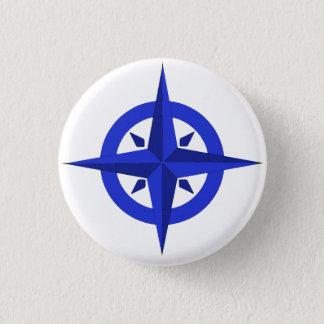 Badge Rond 2,50 Cm Logo de bateau : Insigne ascendant de boussole de