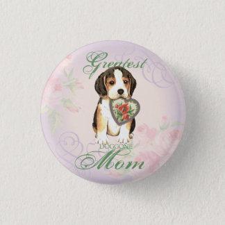 Badge Rond 2,50 Cm Maman de coeur de beagle